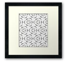 Geometric abstract pattern in grey  Framed Print