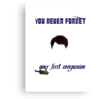Your First Companion Canvas Print