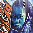 Detail of Mural on a Broken Fence in Kensington Market by Gerda Grice