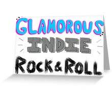 Glamorous Indie Rock & Roll Greeting Card