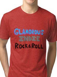 Glamorous Indie Rock & Roll Tri-blend T-Shirt