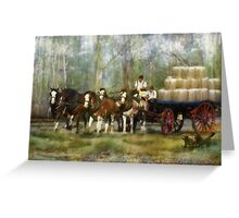 The Wool Dray Greeting Card
