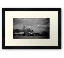 These old barns - Almonte, Ontario Framed Print