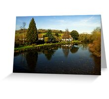 The River Exe at Bickleigh Greeting Card