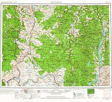 USGS Topo Map Washington State WA Okanogan 239714 1954 250000 by wetdryvac