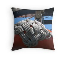 Nautical crochet Throw Pillow