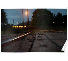 Railroad Tracks Raleigh NC Poster