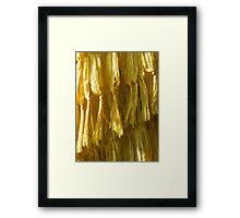 Cascading Yellow Framed Print