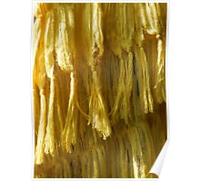 Cascading Yellow Poster