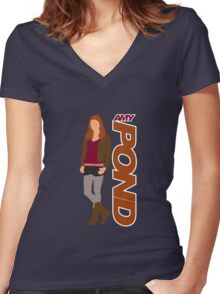 POND. Amy POND Women's Fitted V-Neck T-Shirt
