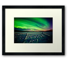 Beach Lake Aurora Framed Print