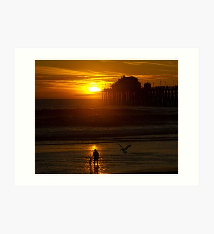 Mother and Child at Sunset Art Print