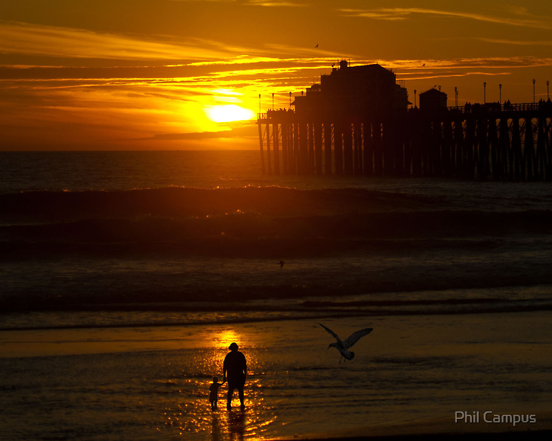 Mother and Child at Sunset by Phil Campus