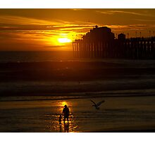 Mother and Child at Sunset Photographic Print