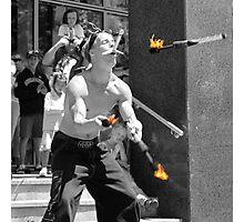 The sword swallowing juggler Photographic Print