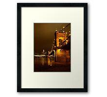 Along The Bridge Framed Print