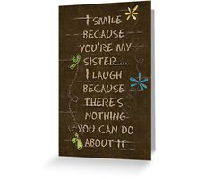 Sisterly Love Greeting Card