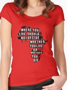 Where You Live - Africa Women's Fitted Scoop T-Shirt