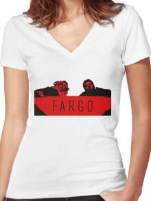 Fargo - We Clean It Up Women's Fitted V-Neck T-Shirt