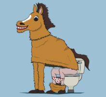 Horse on Toilet Kids Clothes