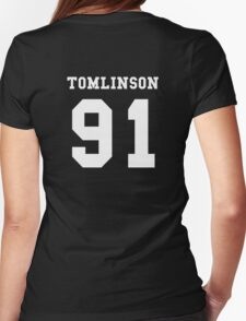TOMLINSON 91 louis tomlinson white Womens Fitted T-Shirt