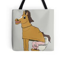 Horse on Toilet Tote Bag