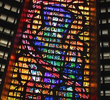 Glass Detail, Roman Catholic Cathedral of Saint Sebastian, Rio de Janeiro, Brazil by Carole-Anne