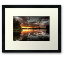 Swamp Glass Framed Print