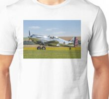 Curtiss P-40C 41-13357 N80FR out in the buttercups Unisex T-Shirt
