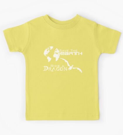 Save the Earth; Ride a Dragon Kids Tee