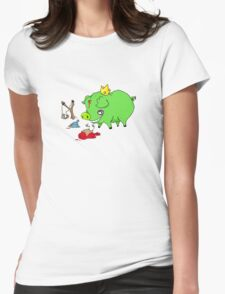 poor angry birds Womens Fitted T-Shirt