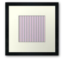 Striped patten in pink and grey  Framed Print