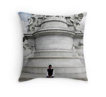 The Enthralled Tourist Throw Pillow