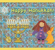Hanukkah Greeting Card by curlyorli