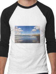 Reflected Sky, Bannow Beach, County Wexford, Ireland Men's Baseball ¾ T-Shirt