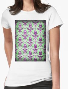 Vintage Floral Pattern Womens Fitted T-Shirt