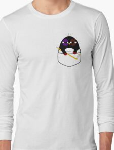 Pocket hockey penguin Long Sleeve T-Shirt