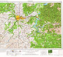 USGS Topo Map Washington State WA Spokane 243955 1955 250000 by wetdryvac