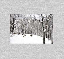 A winter scene - with Coyotes  Long Sleeve T-Shirt