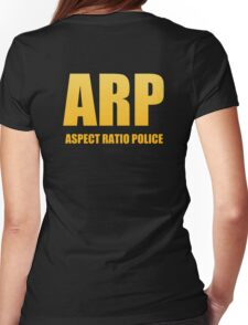 Aspect Ratio Police SWAT attire Womens Fitted T-Shirt
