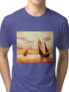 Sailing at Sunset Tri-blend T-Shirt