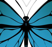 Blue Monarch Butterfly Sticker
