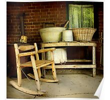 Wash tubs ~ Living Museum, Junee NSW Poster