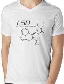 LSD Molecule Mens V-Neck T-Shirt