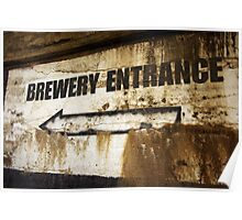 Brewery Entrance Poster