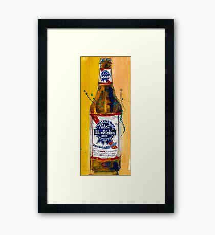 Pabst Blue Ribbon Beer Bottle Framed Print
