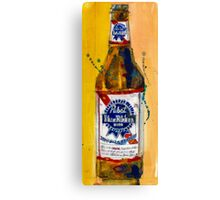 Pabst Blue Ribbon Beer Bottle Canvas Print
