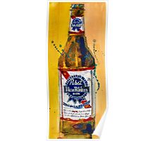 Pabst Blue Ribbon Beer Bottle Poster