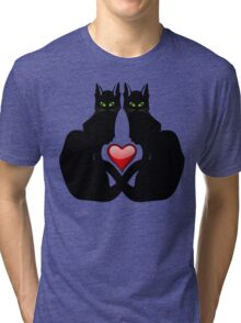 LOVE CATS Tri-blend T-Shirt