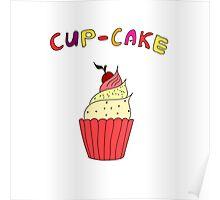 Hand drawn sketchy cupcakes Poster